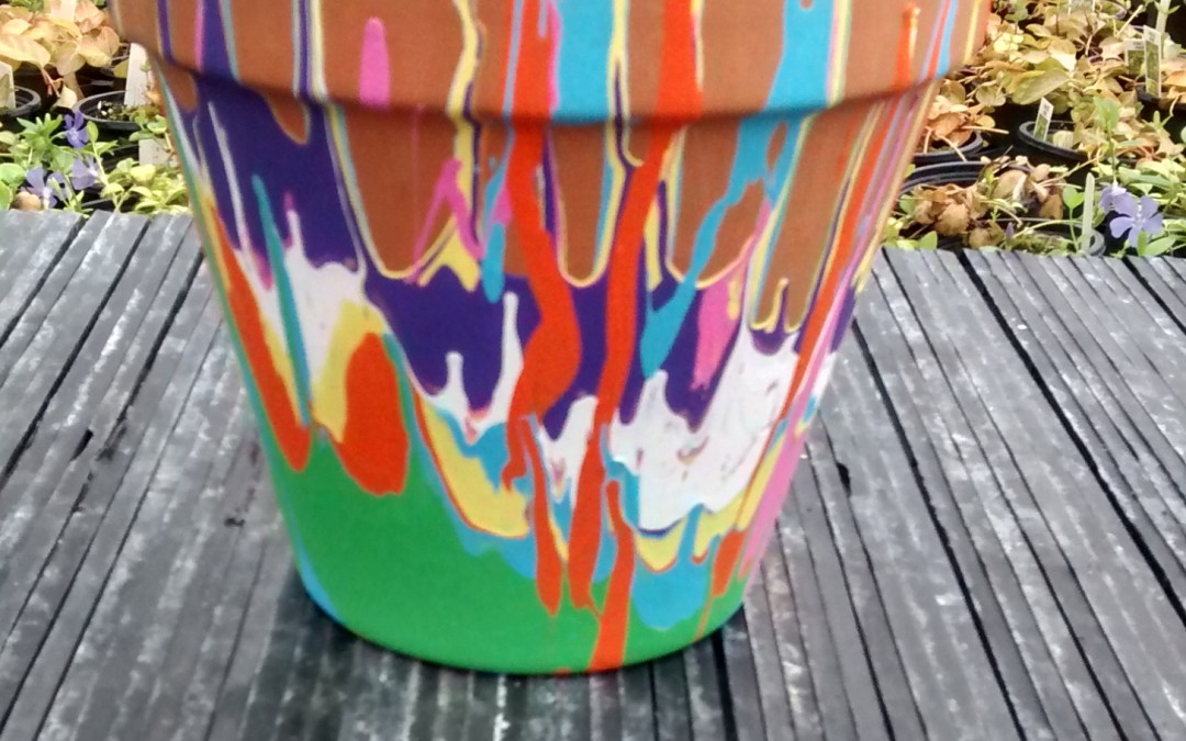 Drip Pot and Painted Succulent